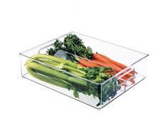 InterDesign Kühlschrank + Behälter für Einfrieren, Kunststoff, Transparent, 36,83 x 30,48 x 10,16 cm