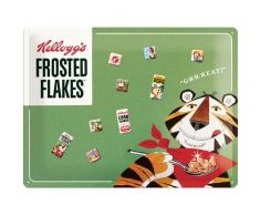 Nostalgic-Art 25013 Kelloggs Frosted Flakes Tony Tiger Magnettafel, 30 x 40 cm inklusive 9 Magneten