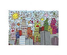 Fridolin 18917Rizzi Mein New York City Reinigungstuch für Lünette Micro Faser/Chiffon Mehrfarbig 18x 12,5x 1cm