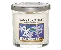 Yankee Candle Midnight Jasmine Stumpenkerze, weiß, klein