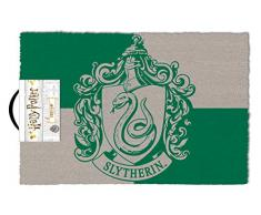 Harry Potter Fußmatte Slytherin grün und grau, aus Kokosfaser, Unterseite aus PVC.