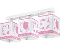 Dalber 63233S Deckenlampe 3L. Rosafarbener Mond Kinderzimmer Lampe Leuchte