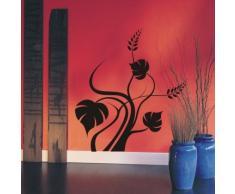 INDIGOS WG30458-70 Wandtattoo w458 Pflanze Gewirr Blätter Wandaufkleber 120 x 109 cm, schwarz