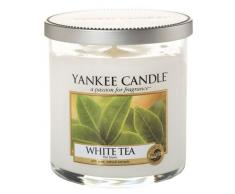 "Yankee Candle ""White Tea"" Stumpenkerze, weiß, klein"