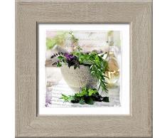 Pro-Art an403o17 Wandbild New Classic Wood Herbage Pestle I, 44 x 44 cm