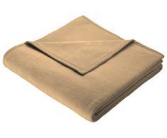 Biederlack 150 x 200 cm Baumwolldecke/Überwurf Überwurf ohne Muster, Camel (kamelhaarfarben) camel