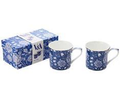 Set of 2 V&A William Morris Wild Tulip Fine Bone China Mugs (Becher)