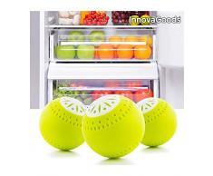 InnovaGoods Waschbälle für Kühlschrank, ABS und Aktivkohle, gelb, 5 x 5 x 5 cm