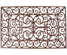 Esschert Design Schmutzfangmatte, Fußmatte in antik aus Gusseisen, rechteckig, ca. 72 cm x 46 cm