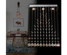 Natsen® LED Kristall Deckenleuchte Deckenlampe Hängeleuchte L60cm GU10 Lampe X1055-3B [Energieklasse A++]