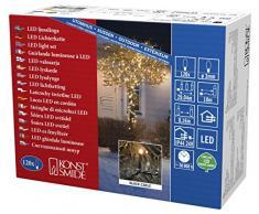 Konstsmide 3612-800 Micro LED Lichterkette/für Außen (IP44) / VDE geprüft / 24V Außentrafo / 120 bernsteinfarbene Dioden/schwarzes Kabel