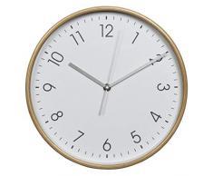 Hama Wanduhr HG-320 (Holz, Geräuscharme Uhr ohne Ticken, 32 cm Durchmesser) weiß/natur