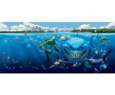 AG Design FTDh 0613 Findet Nemo Disney Charaktere, Papier Fototapete Kinderzimmer - 202x90 cm - 1 Teil, Papier, multicolor, 0,1 x 202 x 90 cm
