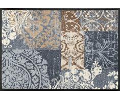 Wash + Dry Fußmatte, Polyester, Grau, 50 x 75 cm