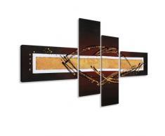 Visario Leinwandbilder 6808 Bilder auf Leinwand Artstyle, 190 x 80 cm, 4 Teile