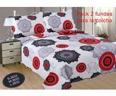 ForenTex Ref2633 Kissenhüllen, 70 cm, Bedruckt, für dekorative Tagesdecken, Blumenmuster, 50% Baumwolle, Grau, 50 x 70 cm, 2 Stück