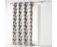 Douceur dIntérieur Vorhang, mit Ösen, Polyester, 140x 260cm, Keramik, grau, 140x1x260 cm