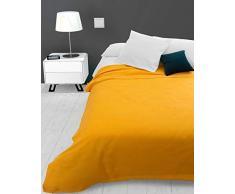 Soleil docre Adele, Tagesdecke, Sofa-Überwurf, Polycotton, Gelb, 220 x 240 cm