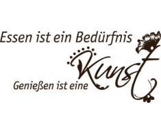 Graz Design 620070_30_080 Wandtattoo Wandaufkleber Spruch Zitat Deko für Küche Wandspruch Wanddeko 67x30cm Braun