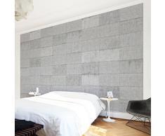 Apalis 106126 Beton Vlies Tapete Ziegeloptik Breit | Vlies Tapete Wandtapete Wandbild Foto 3D Fototapete für Schlafzimmer Wohnzimmer Küche | Größe: 190x288 cm, grau