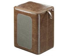 Hailo 4261-201 Q Sitzhocker, Kunstleder, braun / grau