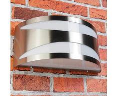 Edelstahl Wandaußenleuchte Wandlampe für Außen York IP54 Feuchtraumgeeignet E27 230V bis zu 60W Außenlampe Hoflampe Hofleuchte Garten Außen Lampen