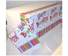 amscan International strahlende Tischdecke, Geburtstag, Kunststoff