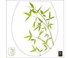 Plage 260208 Toiletten-Deckel Sticker Smooth, Bambus, 40 x 34 cm
