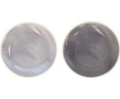 ASA 90604071 2er Set Teller, Porzellan, grau, 20.3 x 20.3 x 2.5 cm, 2 Einheiten