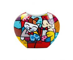 Goebel 66450545 Romero Britto Vase - Happy Cat Snob Dog