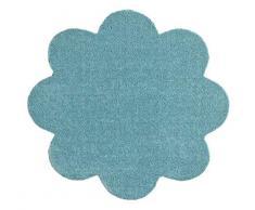 Hanse Home Waschbare Schmutzfangmatte Soft & Clean Türkis in Blumenform, 67x67 cm