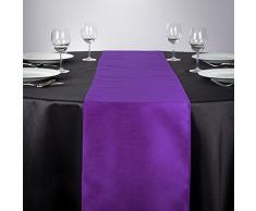 LinenTablecloth Shantung-Seide Tischläufer, 35,6 x 274,3 cm violett