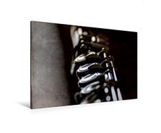 Calvendo Premium Textil-Leinwand 120 cm x 80 cm Quer, Querflöte   Wandbild, Bild auf Keilrahmen, Fertigbild auf Echter Leinwand, Leinwanddruck Hobbys Hobbys