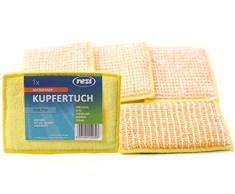 REZI Microfaserprodukte GmbH Kupfertuch Spültuch, Gelb,Blau,Rot,Grün, 14 x 10 cm