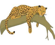 Indigos 4051719870305 Wandtattoo ME275 Leopard Schönheit Klettern 96 x 63 cm