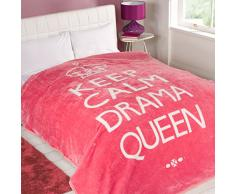 Dreamscene Überwurf Drama Queen, pink, King, 200 x 240 cm