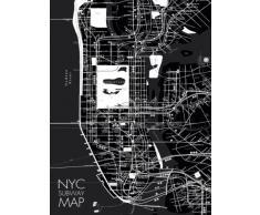 Eurographics Glasbild, DG-BA1084 Deco Glass, NYC Subway Map I, 60 x 80 cm