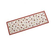 Villeroy & Boch Toys Delight Gobelin Läufer L, Tischläufer mit weihnachtlichen Ornamenten aus Baumwolle und Polyester, bunt, 32 x 96 cm