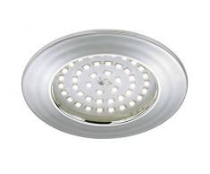 Briloner Leuchten 7206-018 LED Einbauleuchte, Einbaustrahler, LED Strahler, Spots, Deckenstrahler, Deckenspot, Lampen Wohnzimmer, led einbaustrahler 230v, Deckeneinbauleuchten, 10,5 Watt, 1000 Lumen, Badezimmer / Bad geeignet IP44,