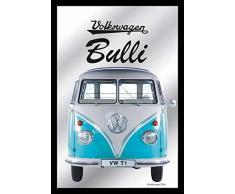 empireposter - Volkswagen - VW Bulli T1 Van - Größe (cm), ca. 20x30 - Bedruckter Spiegel, NEU - Beschreibung: - Bedruckter Wandspiegel mit schwarzem Kunststoffrahmen in Holzoptik -