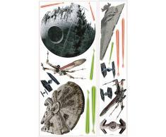 RoomMates RM-Star Wars Todesstern Wandtattoo, PVC, bunt, 48 x 13 x 2.5 cm