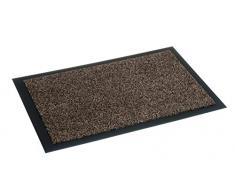 Fußmatte Nela für den Innenbereich - Türvorleger - Sauberlaufmatte - Fußabstreifer - Schmutzabstreifer - Fußabtreter, 60 x 80 cm, braun