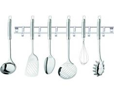 CS Kochsysteme 008765 Küchenhelfer, Edelstahl, 7-teilig, silber, 38 x 8,30 x 9,4 cm