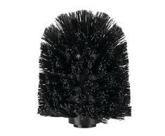 iDesign 99177EU Ersatzbürstenkopf für Toilettenbürste im Bad, 8,3 x 8,3 x 10,2 cm, schwarz, plastik
