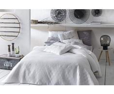 room99 Allzweckdecke Tagesdecke Steppdecke Bettüberwurf Kollektion Bueno Doppelseitig Gesteppt (Pure White, 220 x 240 cm)