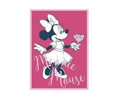 Disney Wandbild von Komar | Minnie Mouse Girlie | Kinderzimmer, Babyzimmer, Dekoration, Kunstdruck | Größe 40x50cm (Breite x Höhe) | ohne Rahmen | WB048-40x50