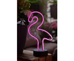Hellum LED Flamingo, Neon, Pink, Rosa, Tischlampe, Nachtlicht, Mädchen Geschenk, Kinder, Partydekoration, Hochzeit, Festival, Events, Wohnung Schlafzimmer, Wohnzimmer, batteriebetrieben
