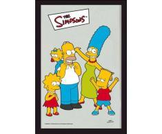 empireposter - Simpsons, The - Familie - Größe (cm), ca. 20x30 - Bedruckter Spiegel, NEU - Beschreibung: - Bedruckter Wandspiegel mit schwarzem Kunststoffrahmen in Holzoptik -