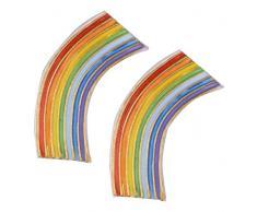 efco Rainbow Wachs Dekoration, Mehrfarbig, 55Â x 25Â mm, klein
