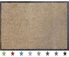 oKu-Tex Fußmatte | Schmutzfangmatte | Eco-Clean| Taupe | Recycling-Gummi | für innen | Eingangsbereich / Haustür / Treppenhaus / Flur | rutschfest | 40x60 cm